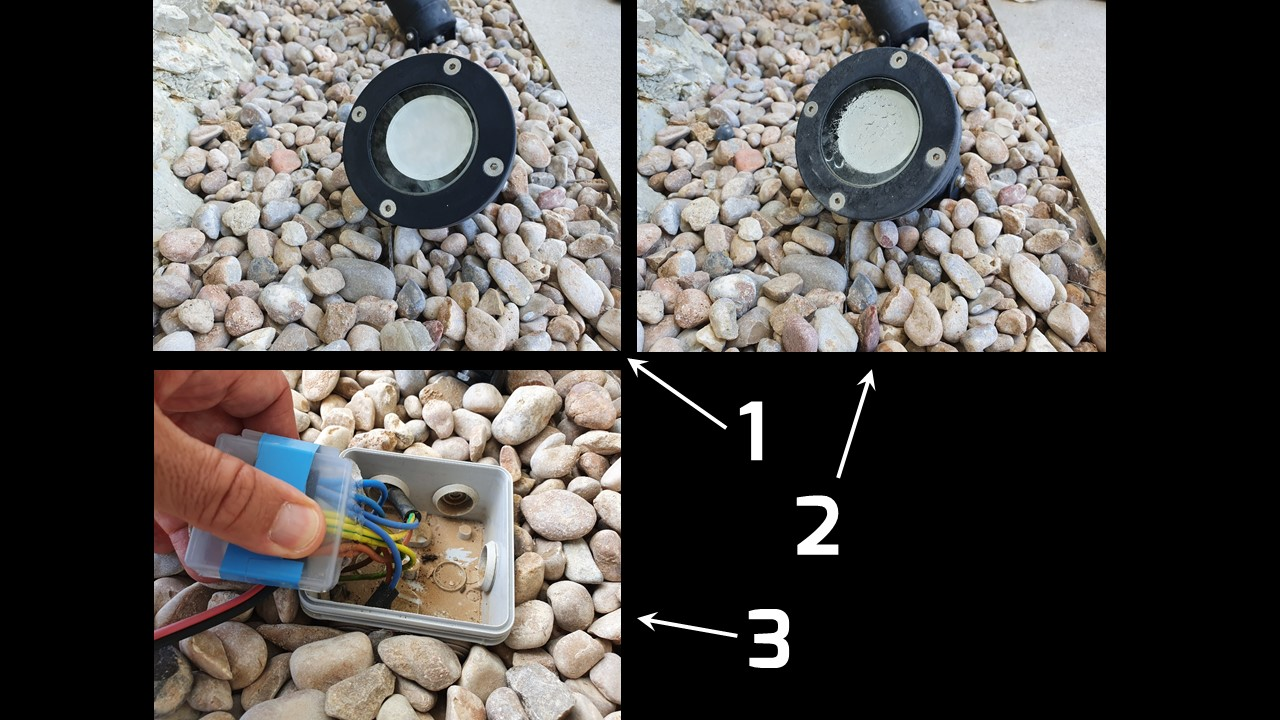 WHAT TO DO SO THAT WATER DOES NOT GET INTO THE GARDEN SPOTLIGHTS?